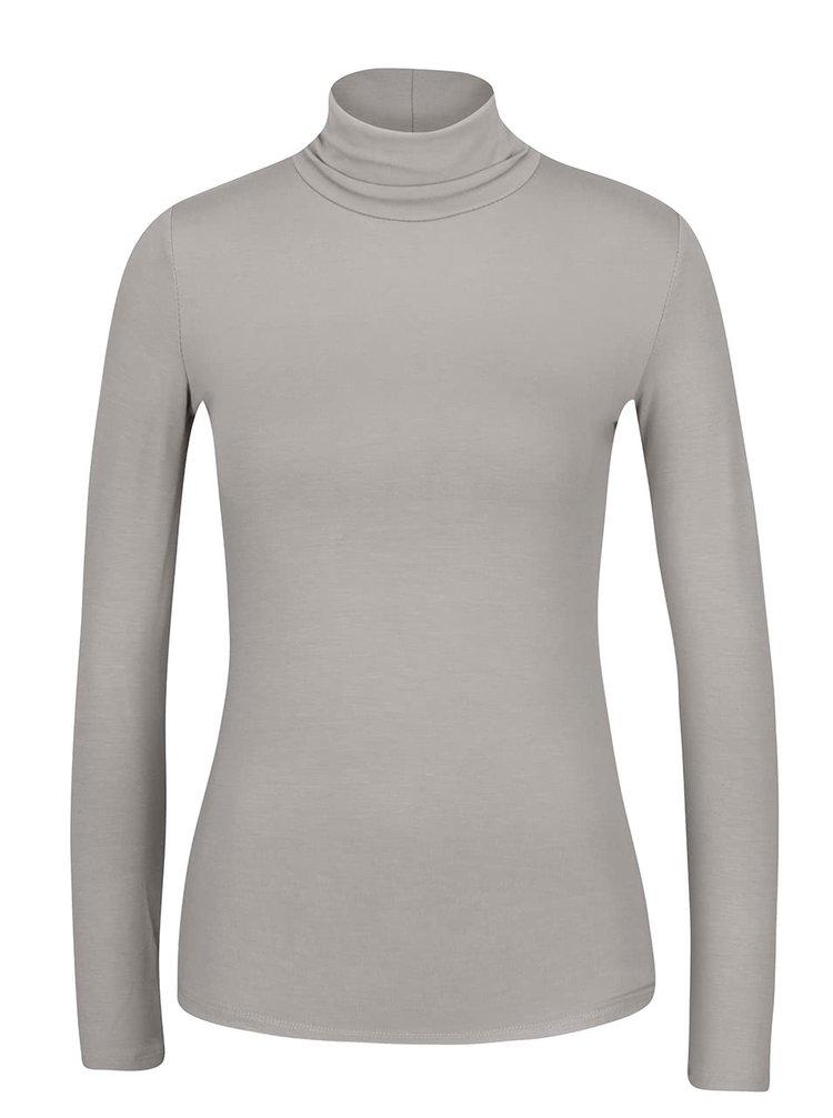Svetlosivé tričko s rolákom a dlhým rukávom ZOOT