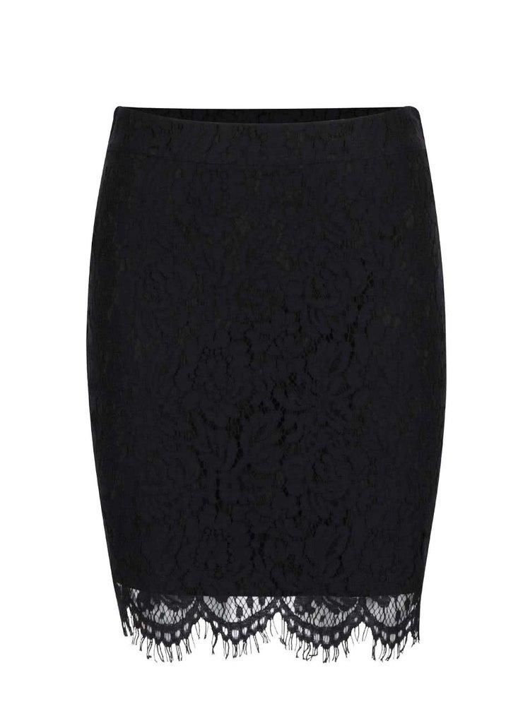 Černá krajková sukně VILA Leicka