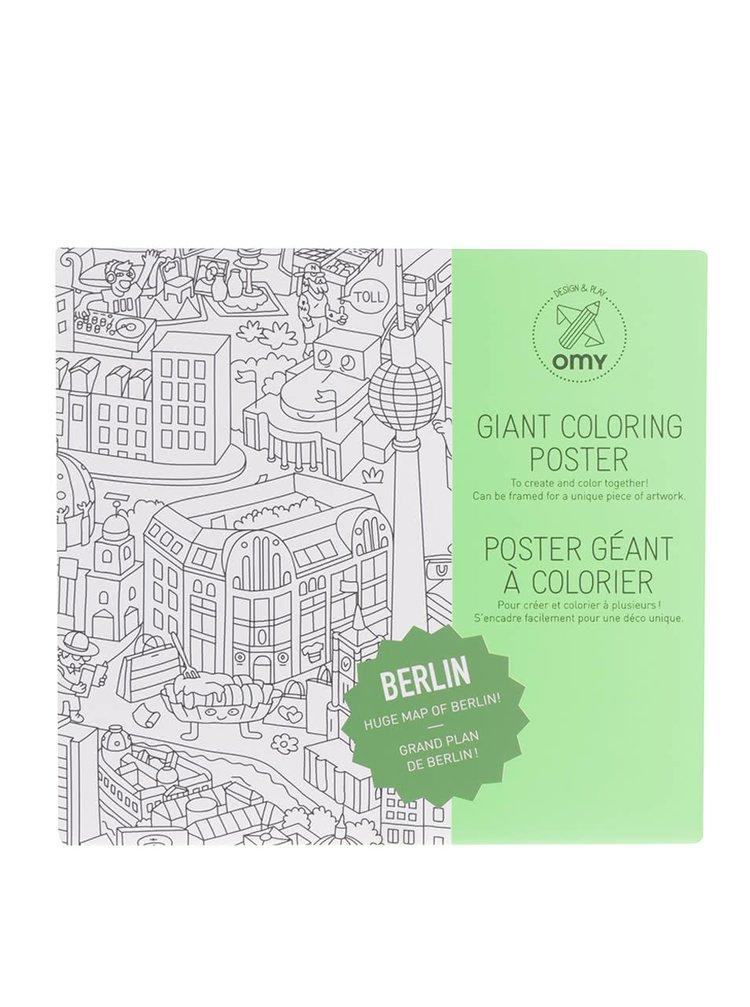 Poster de colorat Berlín OMY