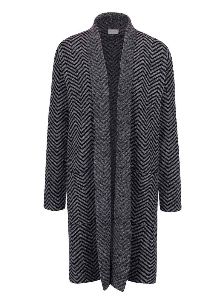 Černo-šedý vzorovaný cardigan VILA Olympa