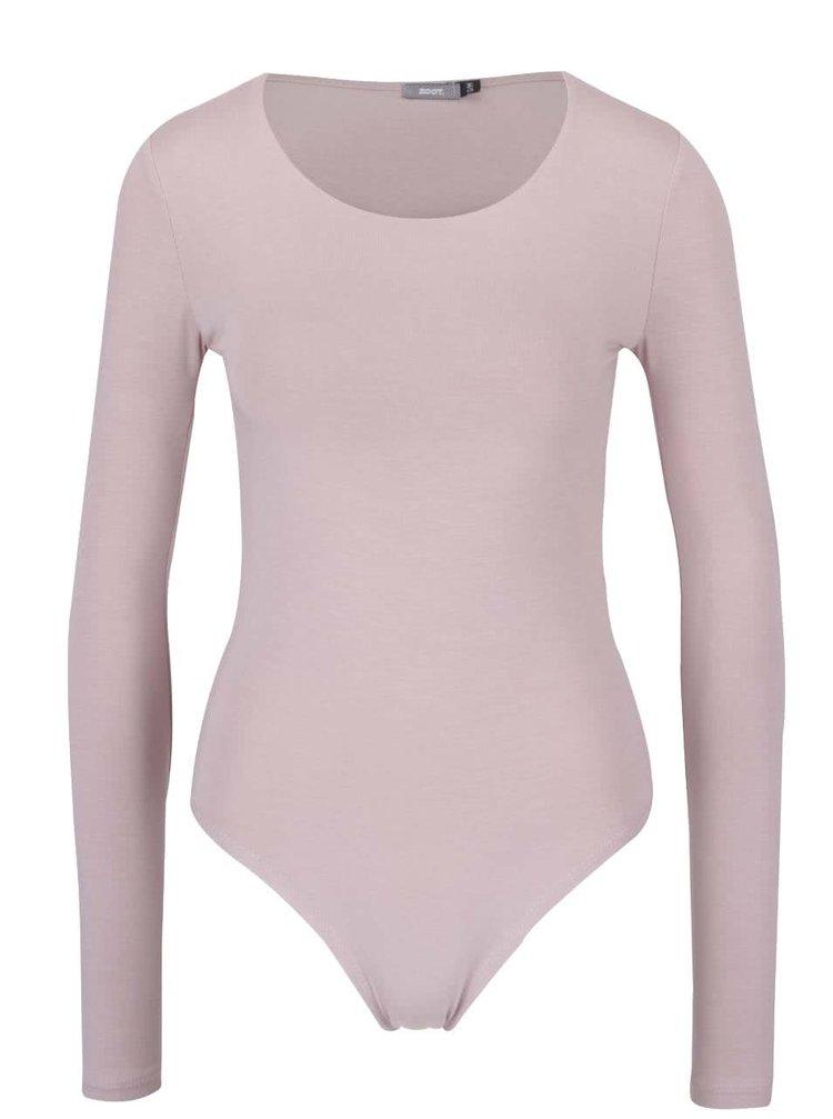 Body roz deschis cu maneci lungi - ZOOT