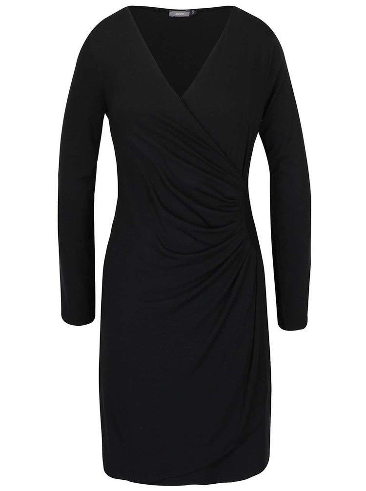 Rochie neagră cu fronseuri ZOOT