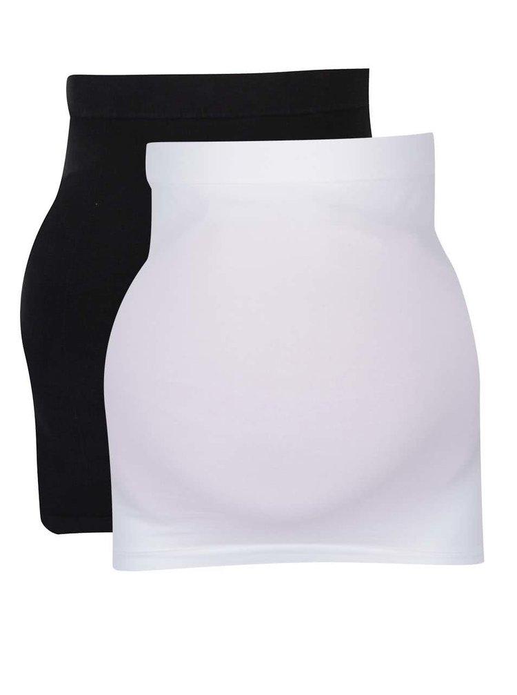 Súprava dvoch tehotenských elastických pásov v bielej a čiernej farbe Mama.licious Cara