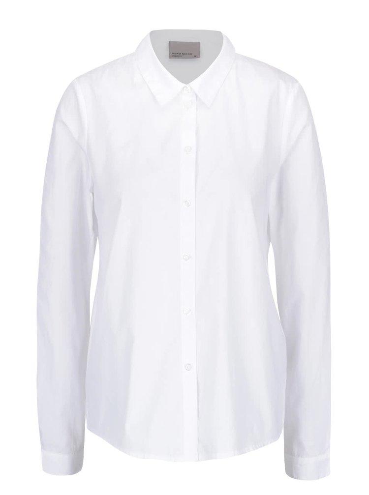 Bílá košile s volánkem na zádech VERO MODA Fraya