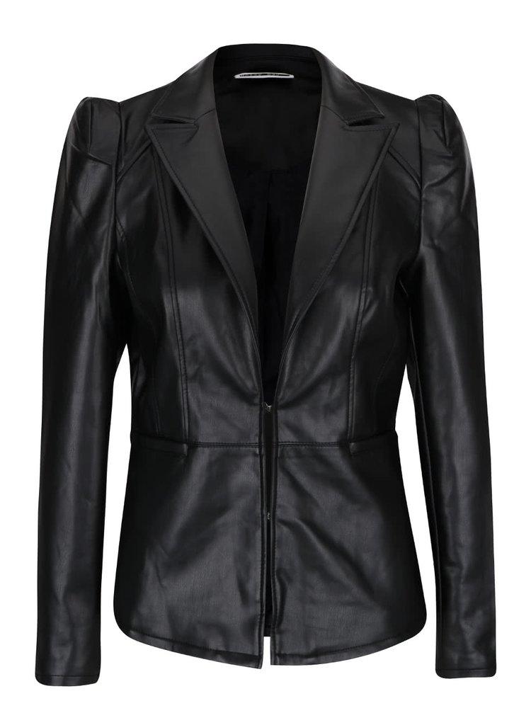 Černá koženková bunda Noisy May Emily