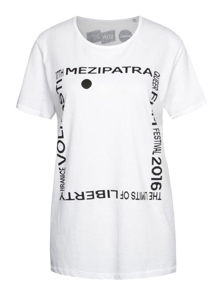 """""""Dobré"""" bílé unisex tričko pro Mezipatra"""