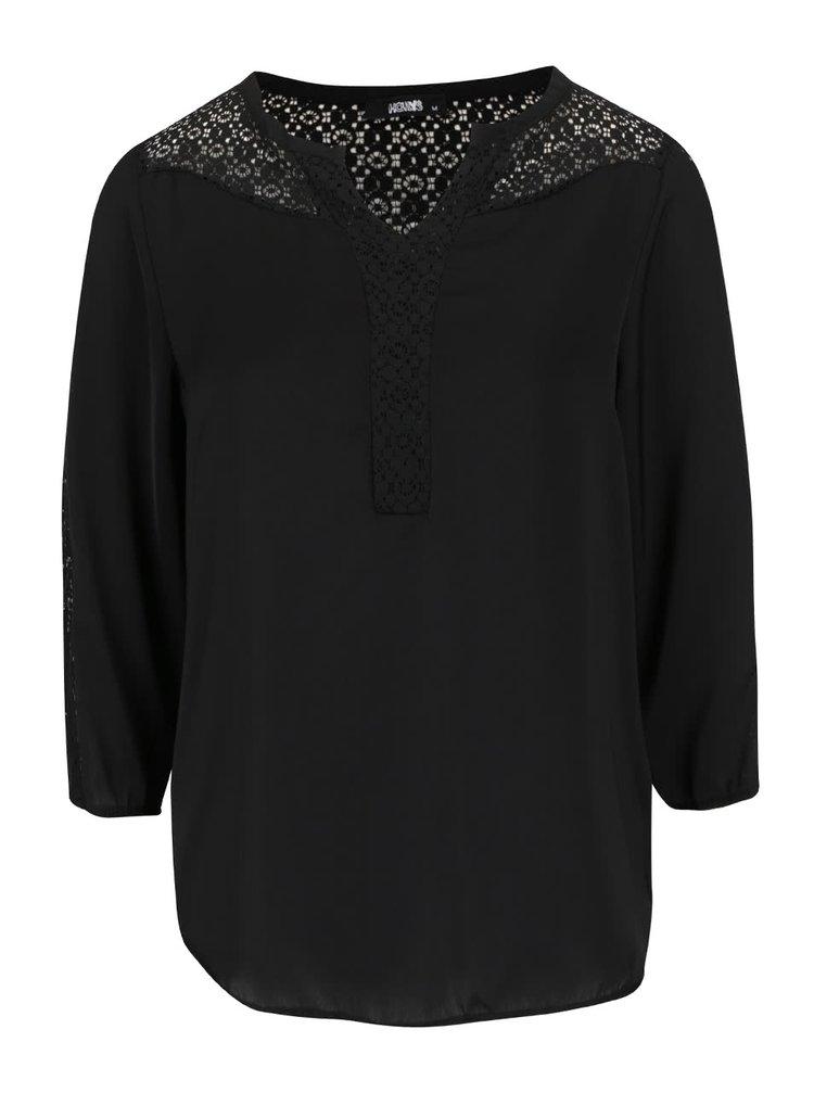 Černá halenka s krajkovými detaily Haily´s Nadine