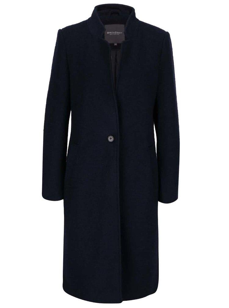 Tmavě modrý delší dámský kabát Broadway Batty