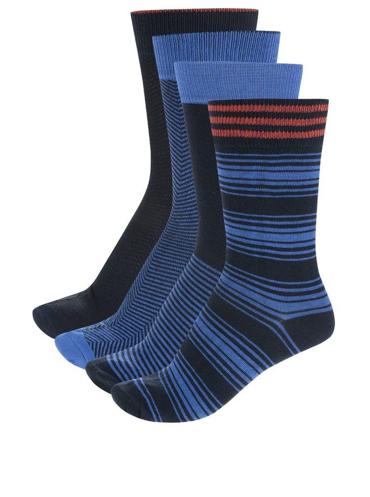 Set de 4 perechi de șosete bleumarin Jack & Jones cu model discret