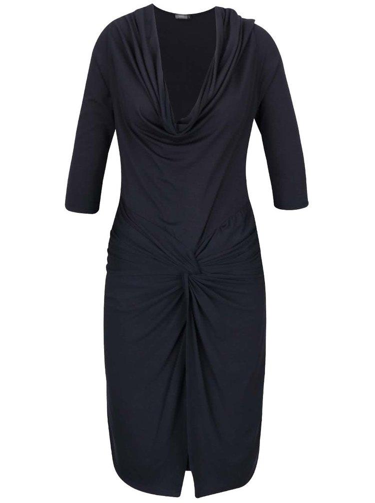 Tmavě modré šaty s prověšeným výstřihem ZOOT
