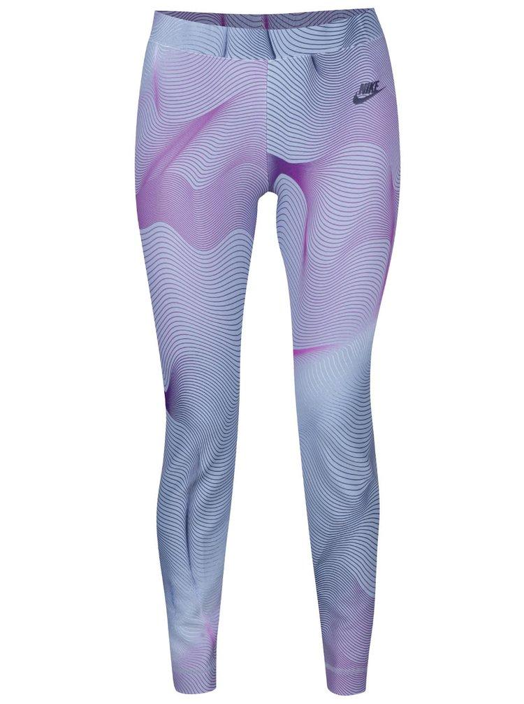 Fialovo-modré dámské sportovní legíny Nike Sportswear