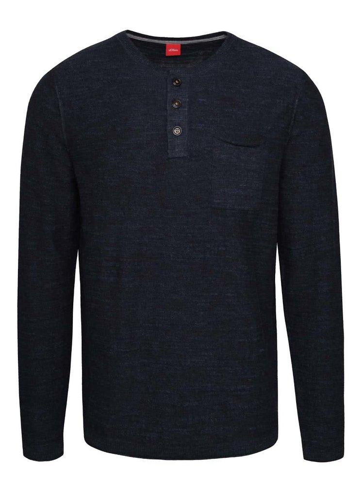 Bluză albatru închis s.Oliver din jerseu