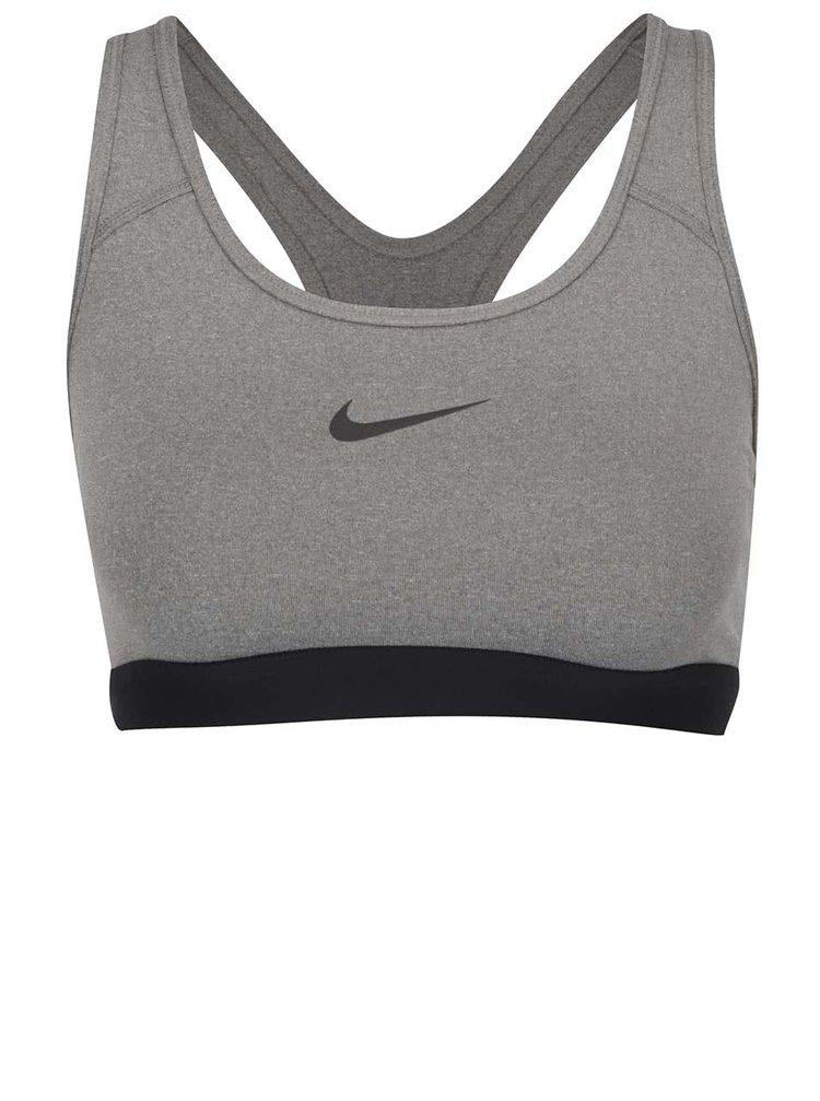 Šedá dámská sportovní podprsenka Nike Pro Classic