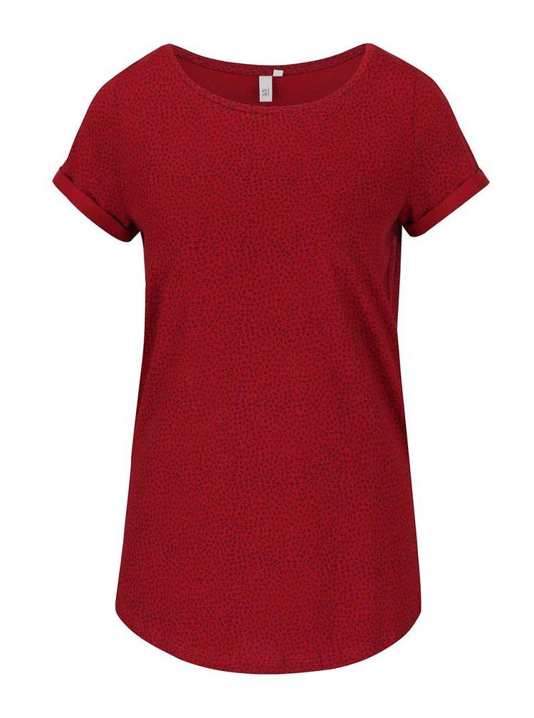 Tricou roșu s.Oliver cu model discret