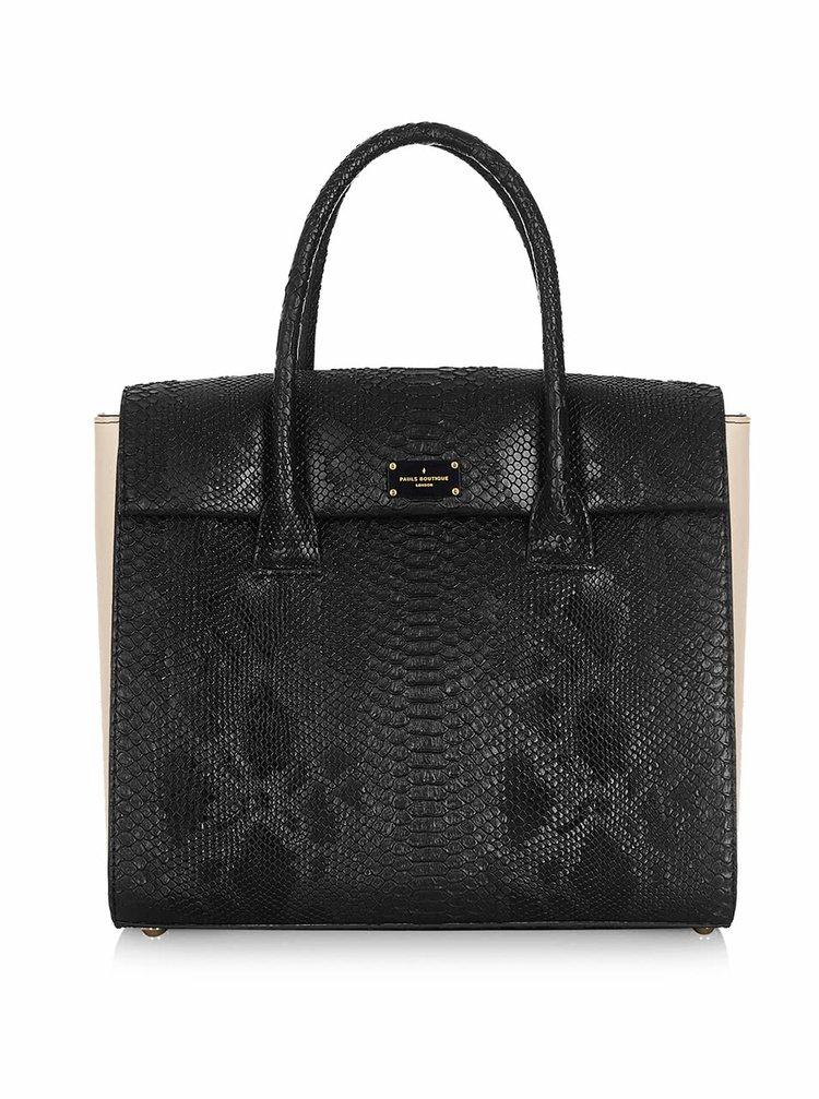 Geantă neagră cu model șarpe Paul's Boutique Adele