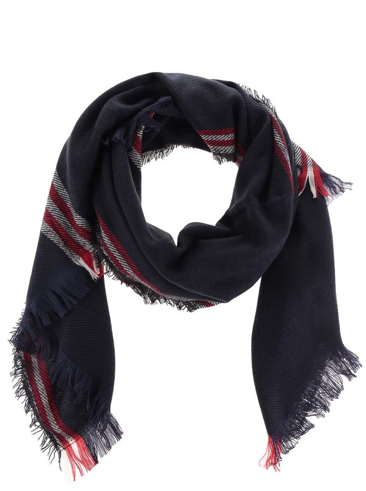 Tmavomodrý šál Haily´s Schal 3 Streifen