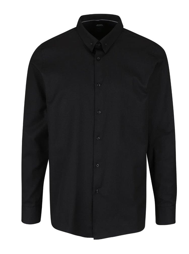 Cămașă neagră skinny fit Burton Menswear London