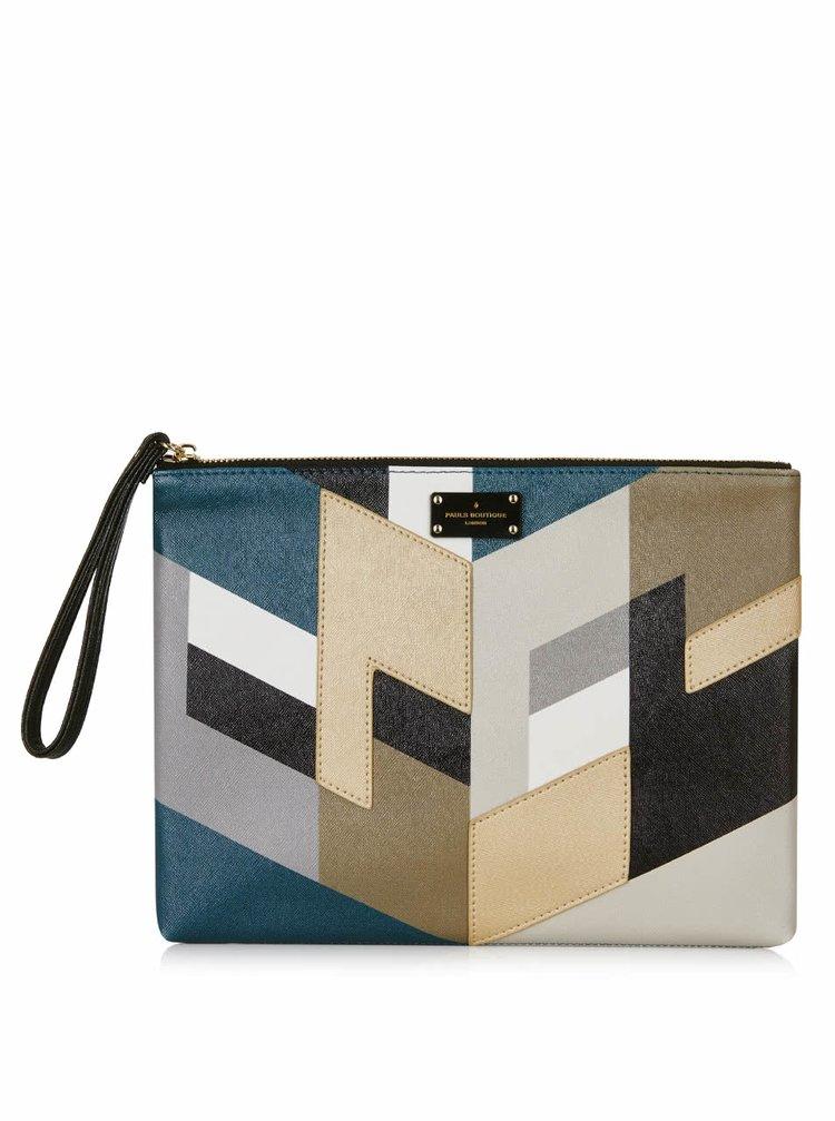 Hnedo-zelená listová kabelka so vzorom Paul's Boutique Stephanie