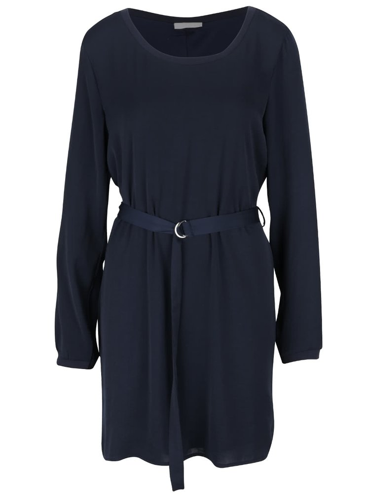 Tmavomodré šaty s opaskom VILA Melli