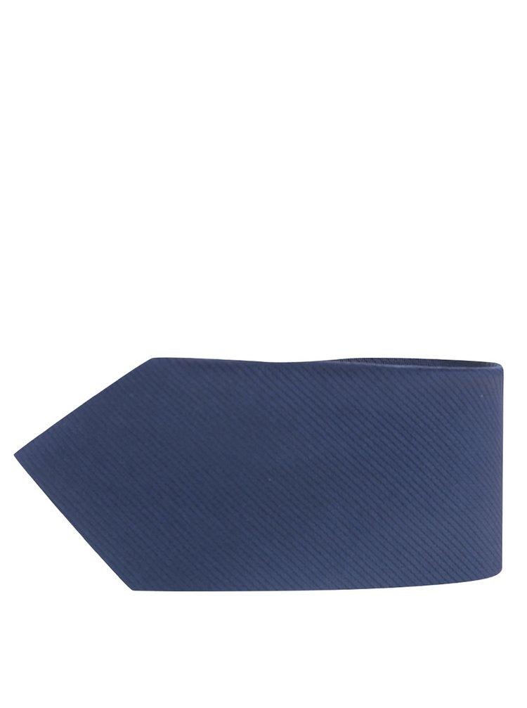 Tmavě modrá kravata s jemným vzorem Burton Menswear London
