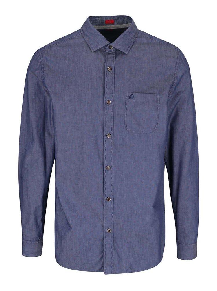 Modrá puntíkatá pánská košile s.Oliver