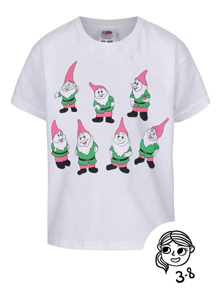 Bílé dětské tričko ZOOT Kids 7 trpaslíků