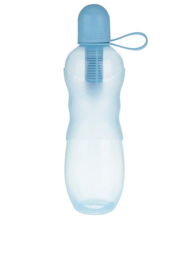 Modrá zbarvená filtračníl láhev se silikonovým víčkem bobble Sport