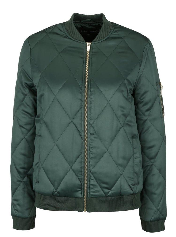 Jachetă bomber verde închis cu model matlasat Dorothy Perkins