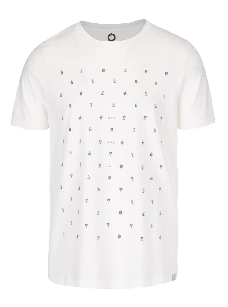 Krémové tričko so vzorom Jack & Jones Stockholm