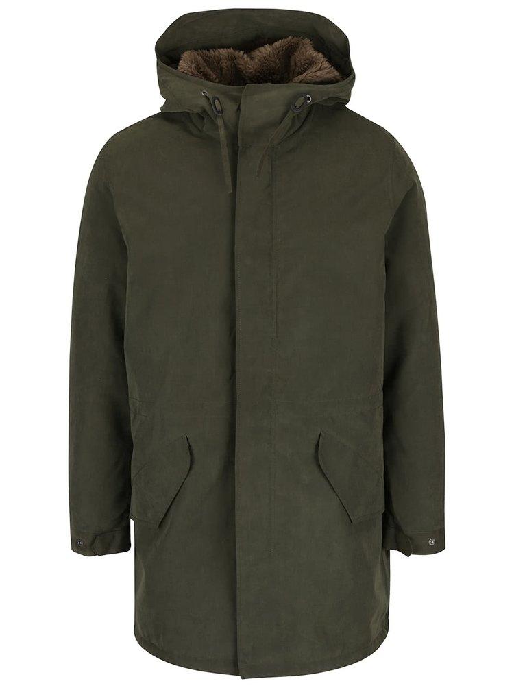 Jachetă parka verde oliv Jack & Jones Alexander cu glugă