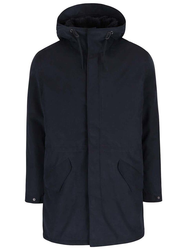 Jachetă parka bleumarin Jack & Jones Alexander cu glugă