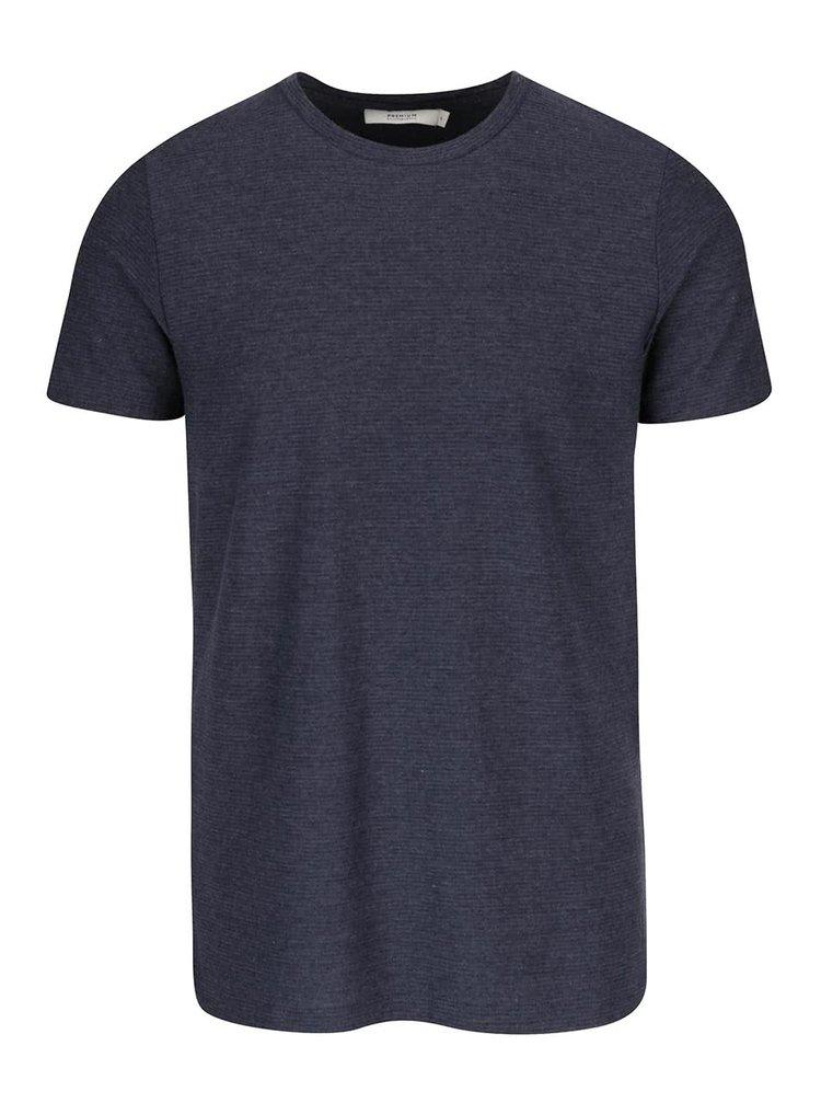 Tricou bleumarin Jack & Jones Wellington cu model discret