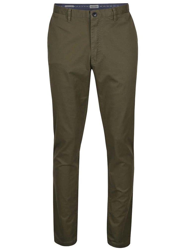 Pantaloni chino verde olive Jack & Jones Marco