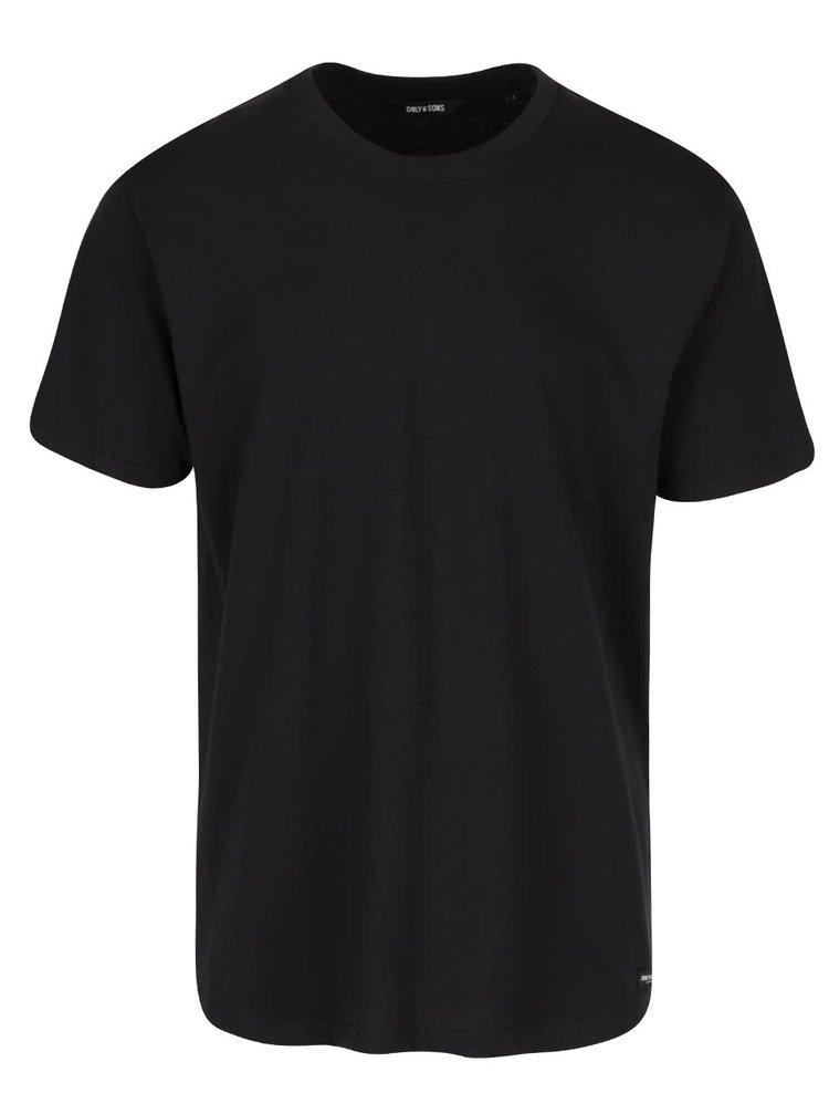 Černé basic triko ONLY & SONS Eltonn