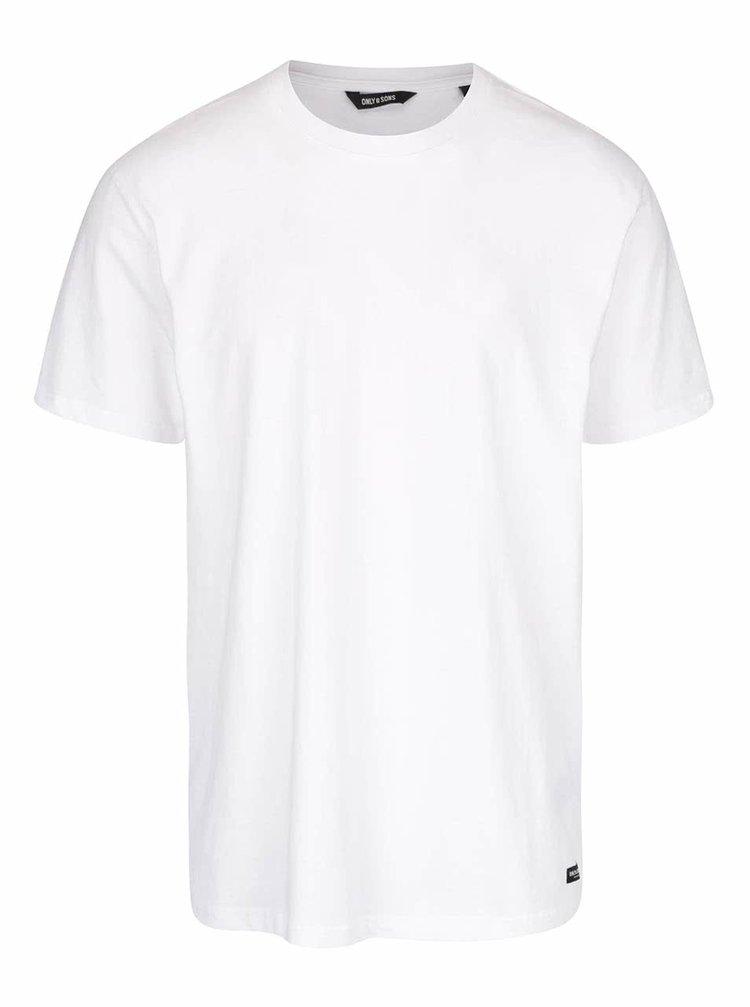 Biele basic tričko ONLY & SONS Eltonn