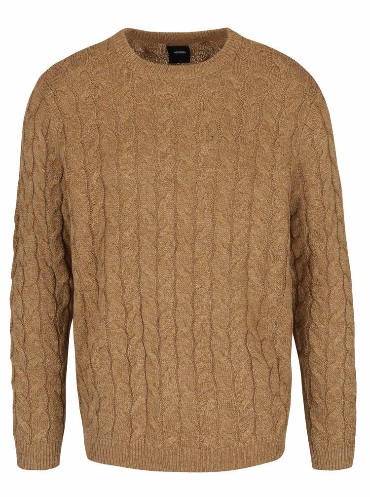 Pulover bej Burton Menswear London cu model discret