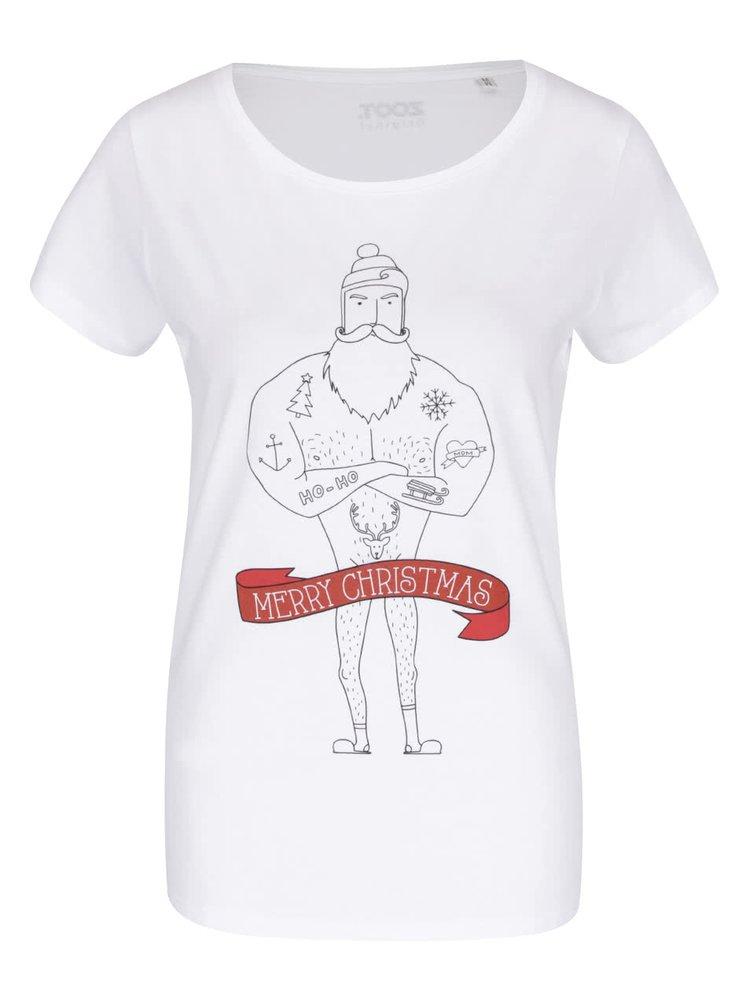Bílé dámské tričko s potiskem ZOOT Originál Merry Christmas