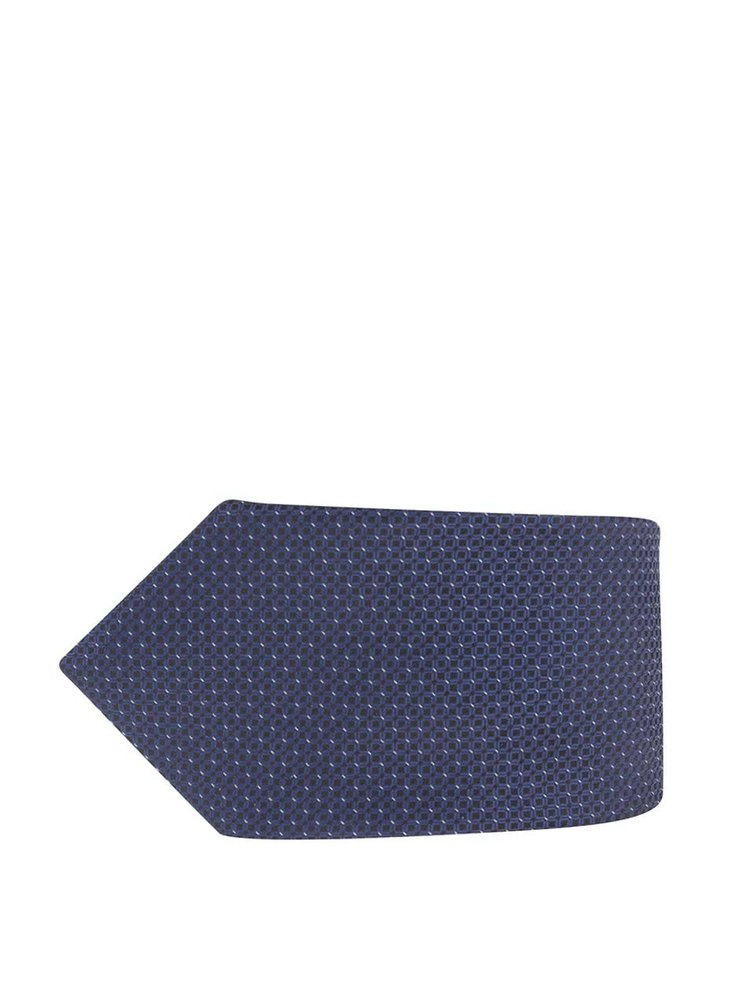 Tmavě modrá kravata se vzorem Burton Menswear London