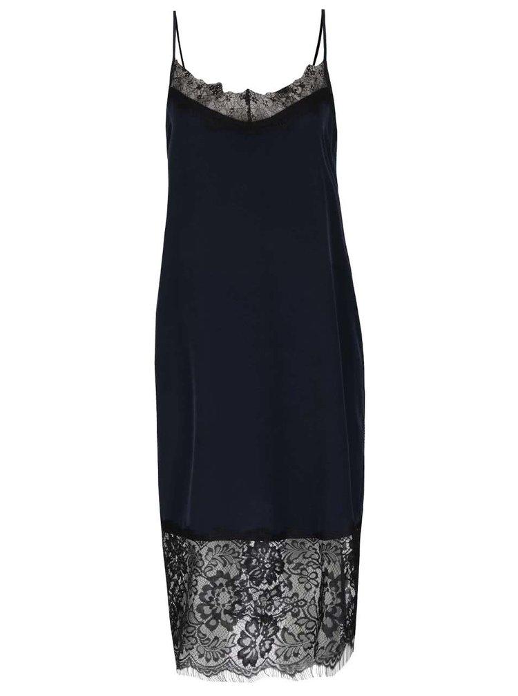 Tmavě modré krajkové šaty ONLY Maria