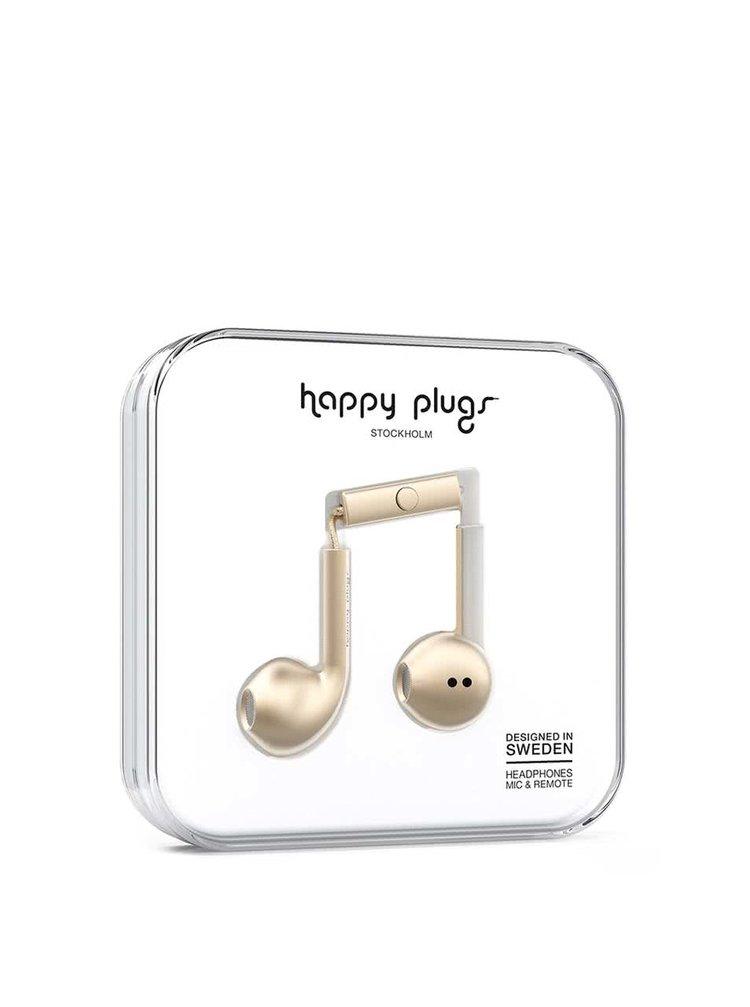 Căști earbud auriu mat Happy Plugs