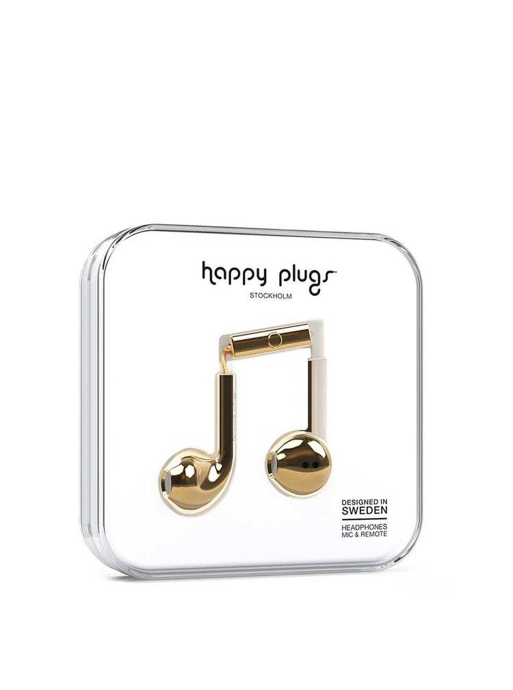 Casti earbud aurii Happy Plugs