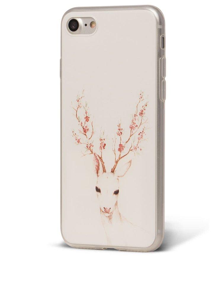 Bílý ochranný kryt na iPhone 7 Epico Deer