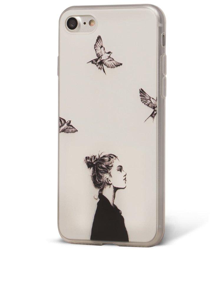 Bílý ochranný kryt na iPhone 7 Epico In The Sky