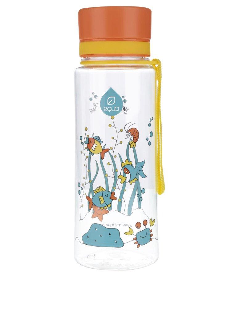 Recipient din plastic cu imprimeu cu pești EQUA (600 ml)