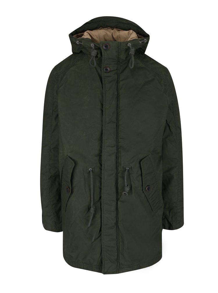 Jachetă verde închis cu glugă Jack & Jones Scandinavia
