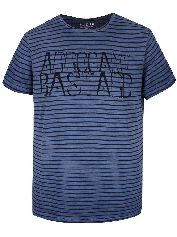 Tricou albastru cu negru în dungi Blend