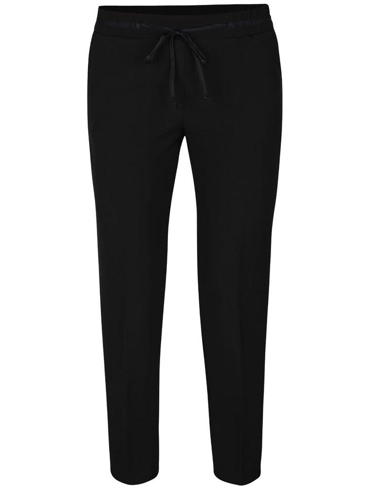 Čierne skrátené nohavice s mašľou TALLY WEiJL