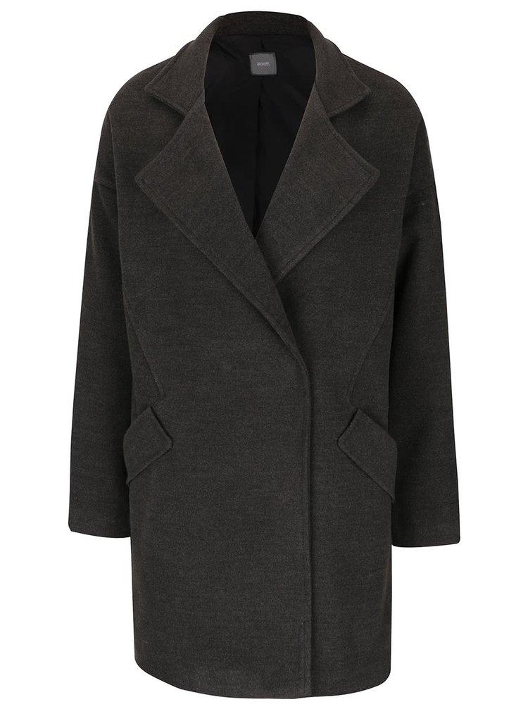 Šedý kabát s kapsami ZOOT
