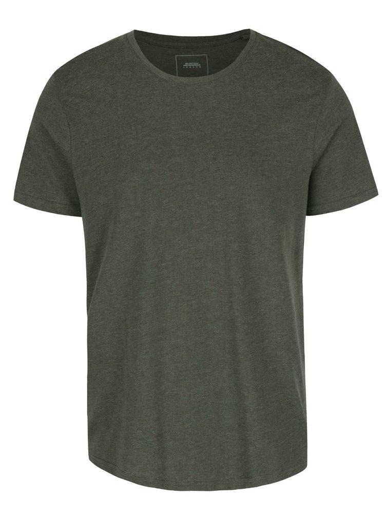 Tricou verde închis Burton Menswear London cu model discret
