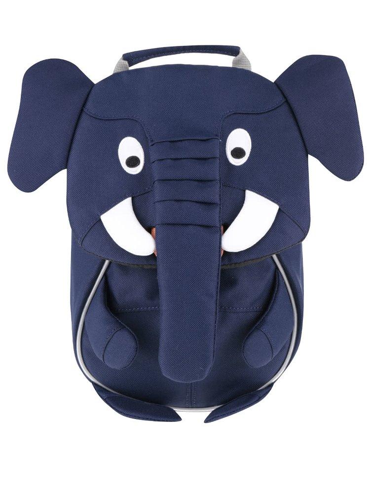 Tmavě modrý batůžek ve tvaru slona Affenzahn 4 l